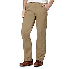 Maine New England - Light brown tailored fit chinos
