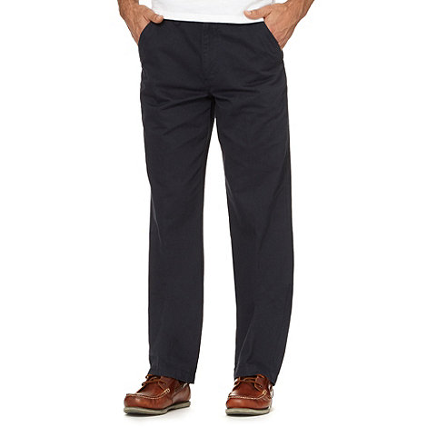 Maine New England - Big and tall navy classic chinos