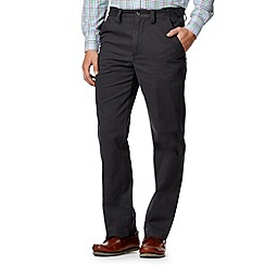 Maine New England - Big and tall dark grey classic chinos