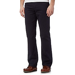 Maine New England - Big and tall navy bedford 5PKT trousers