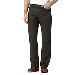 Maine New England - Big and tall dark olive bedford 5PKT trousers
