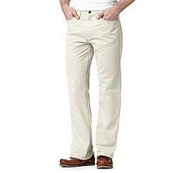 Maine New England - Natural chevron straight leg 5PKT trousers