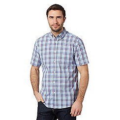 Maine New England - Pale blue checked shirt