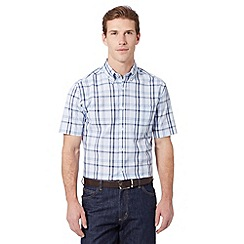 Maine New England - Big and tall blue nautical checked shirt