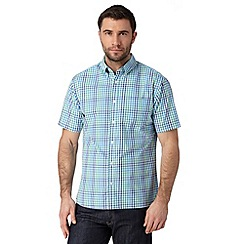 Maine New England - Green checked short sleeved shirt