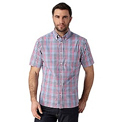 Maine New England - Bright pink checked short sleeved shirt