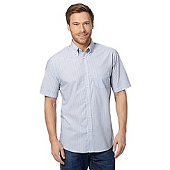 Maine New England - Big and tall blue textured stripe shirt