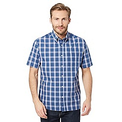 Maine New England - Big and tall navy window checked shirt