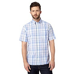 Maine New England - Big and tall light blue checked shirt