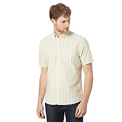 Maine New England - Big and tall yellow striped pocket oxford shirt