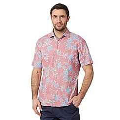 Maine New England - Pink floral short sleeved shirt