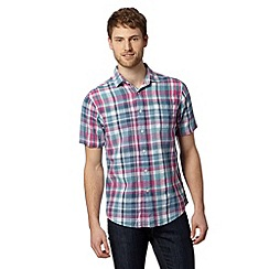 Maine New England - Big and tall bright pink madras checked shirt