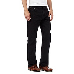 Maine New England - Black raw regular leg jeans