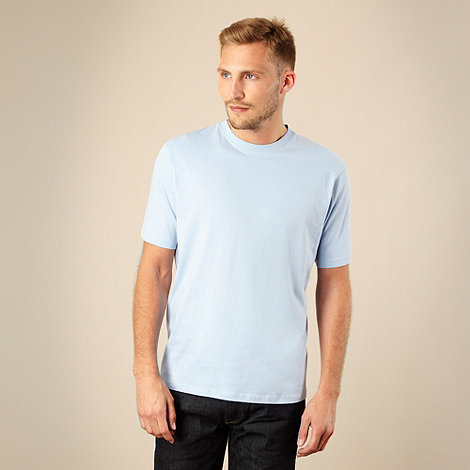 Maine New England - Big and tall light blue plain t-shirt