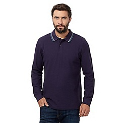 Maine New England - Big and tall dark purple polo shirt