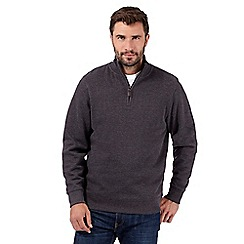 Maine New England - Big and tall dark grey ribbed jumper