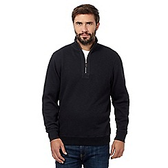 Maine New England - Big and tall navy polo neck jumper