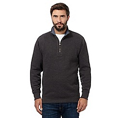 Maine New England - Big and tall dark grey polo neck jumper