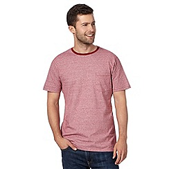 Maine New England - Big and tall red feeder striped crew neck t-shirt
