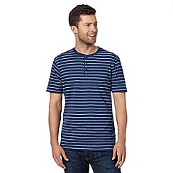 Maine New England - Blue simple striped short sleeved top