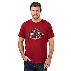 Maine New England - Big and tall dark red 'Portland' t-shirt