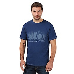 Maine New England - Big and tall navy 'Mid Coast' big and tall t-shirt