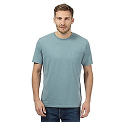 Maine New England - Aqua plain single pocket t-shirt