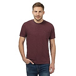 Maine New England - Big and tall plum plain single pocket t-shirt