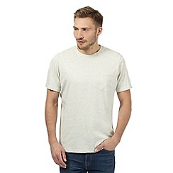 Maine New England - Big and tall dark cream plain single pocket t-shirt