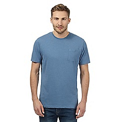 Maine New England - Big and tall blue plain single pocket t-shirt