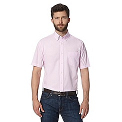 Maine New England - Black Light pink fine semi plain shirt