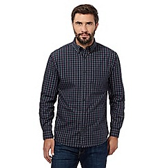 Maine New England - Big and tall dark green check shirt