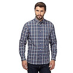 Maine New England - Big and tall red checked button down shirt