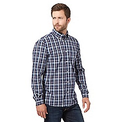 Maine New England - Blue ombre checked shirt