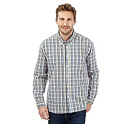 Maine New England - Big and tall yellow tonal checked shirt