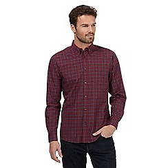Maine New England - Big and tall red tartan print shirt