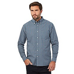 Maine New England - Big and tall green box check long sleeve shirt