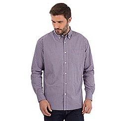 Maine New England - Big and tall navy mini checked shirt