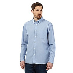 Maine New England - Big and tall Pale Blue Simple Stripe long sleeve shirt