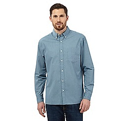 Maine New England - Big and tall green semi-plain shirt