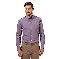 Maine New England - Big and tall plum semi-plain shirt