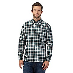 Maine New England - Big and tall green check print buttoned shirt