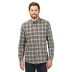 Maine New England - Big and tall yellow checked shirt