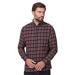 Maine New England - Big and tall red tartan shirt