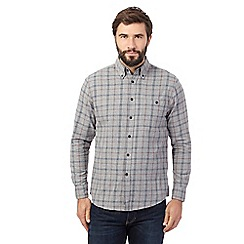 Maine New England - Big and tall grey checked long-sleeved shirt
