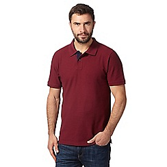Maine New England - Big and tall maroon contrast placket polo shirt