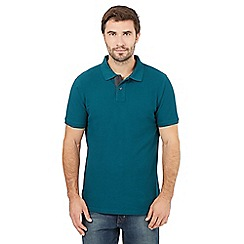 Maine New England - Big and tall dark green contrast placket polo shirt