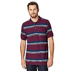 Maine New England - Big and tall plum striped polo shirt
