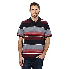 Maine New England - Big and tall red striped polo shirt