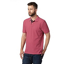 Maine New England - Rose plain pique polo shirt